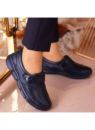 Pandora Fb1901 Ortapedik Deri Bayan Günlük Ayakkabı Siyah
